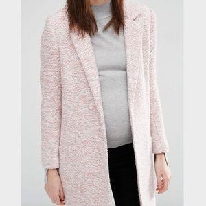NWT ASOS Maternity Blush Woven Slim Coat Size 6